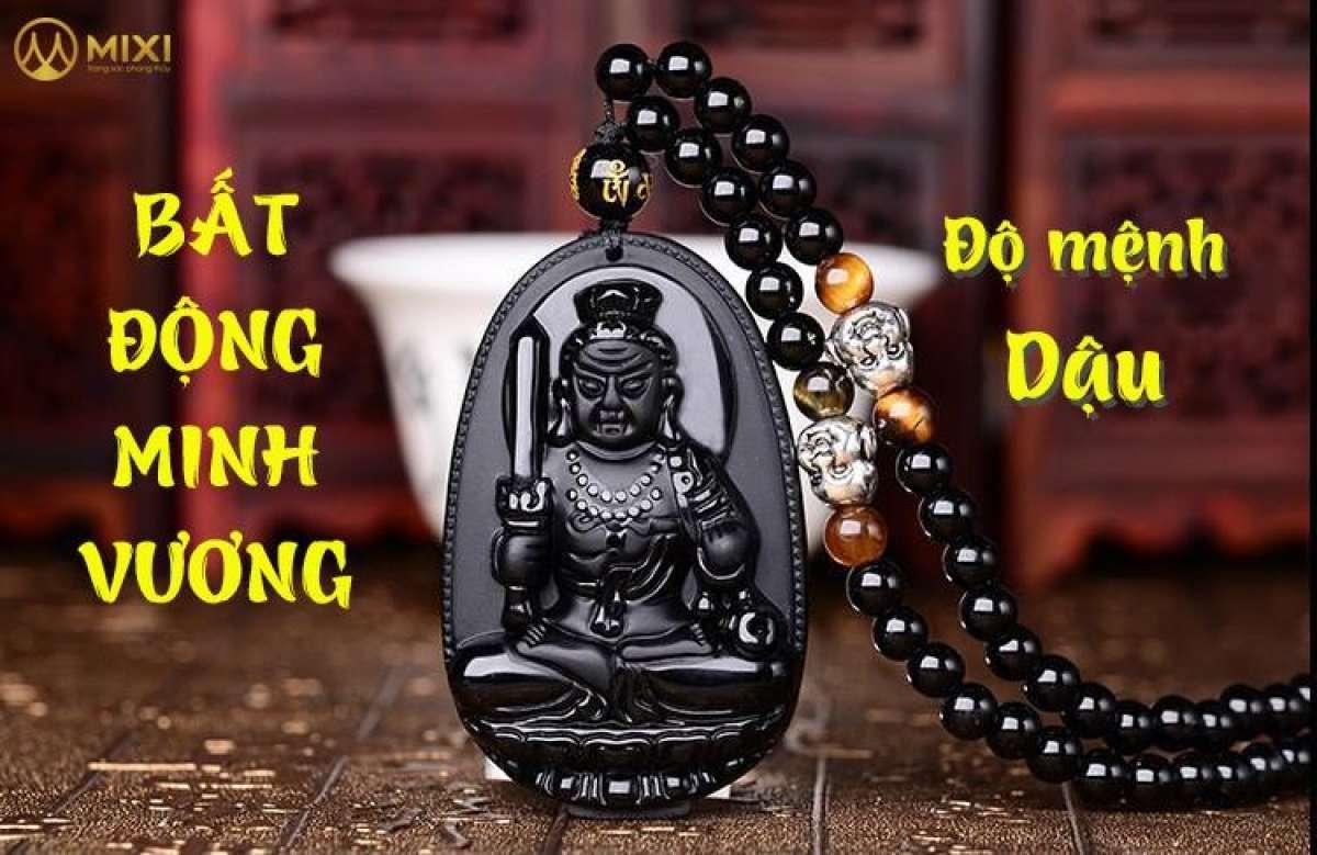 (SALE KHỦNG ) Vòng cổ mặt Phật bản mệnh Bất Động Minh Vương - Tuổi Dậu