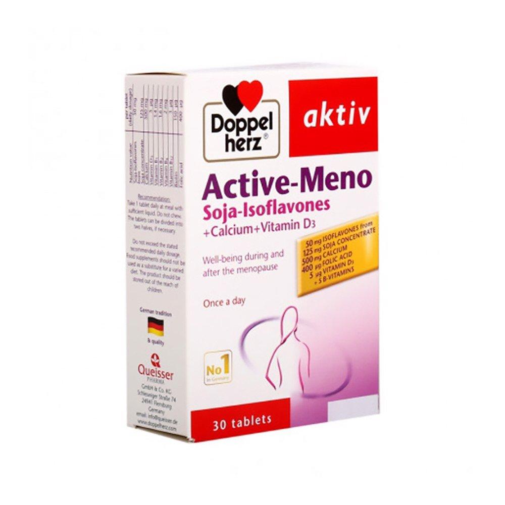 [HCM]Viên uống Doppelherz Aktiv ACTIVE-MENO (hộp 30 viên) – Thực phẩm chức năng hỗ trợ TĂNG CƯỜNG SINH LÝ NỮ