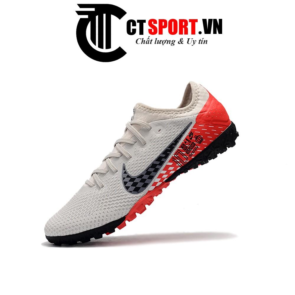 Giày đá bóng Mercurial Vapor 13 Pro Neymar CTSPORT trắng vạch đen gót đỏ HQ TF