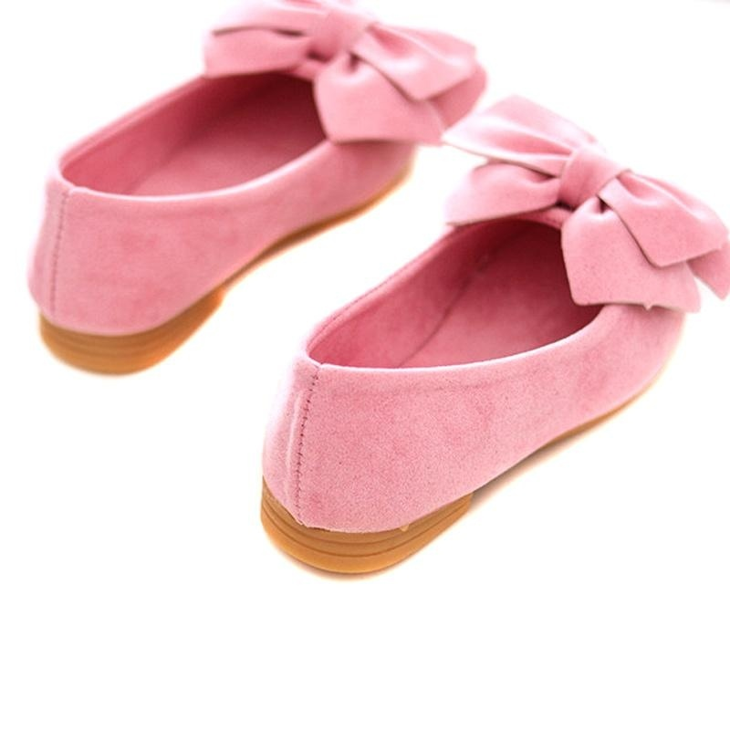 1 Pair Princess Girls Shoes Bow Flat Shoes Toddler Kids ...