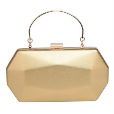 Đánh Giá 2017 Fashion Elegant Solid Synthetic Leather Evening Clutch Bag with Detachable Chain Strap(Gold) – intl  HYX store