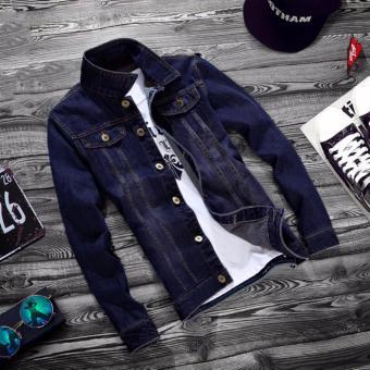 Áo khoác Jean nam 2 túi trước (Size L)