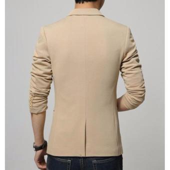 Áo khoác vest nam phối túi kiểu LB FASHION ( kem )