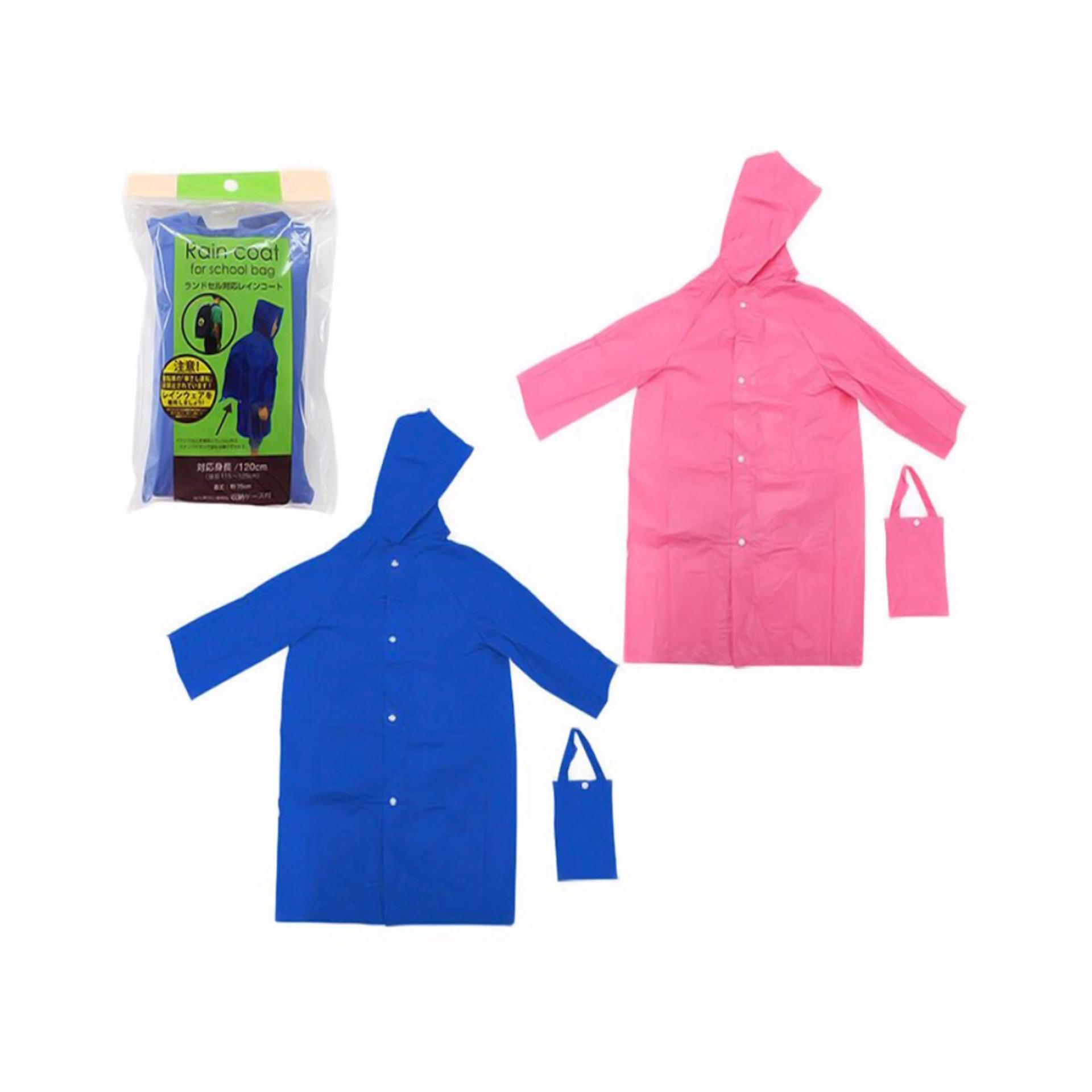 Áo mưa cho bé (thiết kế để che cặp sách học sinh) hàng nhập khẩu Nhật Bản