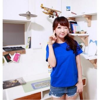 Áo thun nữ trưn dễ thương ( xanh )