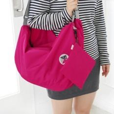 Balo du lịch gấp gọn chống thấm Carry bag ( Hồng Đậm )