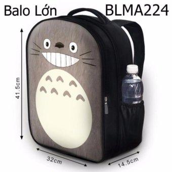 Balo học sinh Truyện tranh Totoro nâu mặt cười - VBLMA224