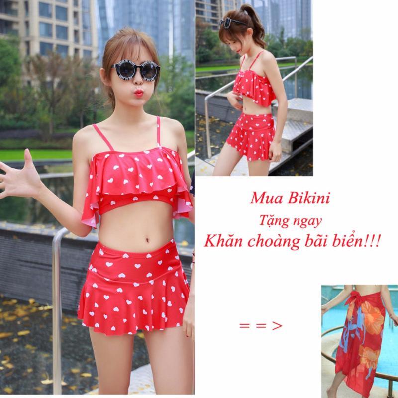 Nơi bán Bikini dạng váy dễ thương BKN9902 ( đỏ) - SIÊU GIẢM GIÁ