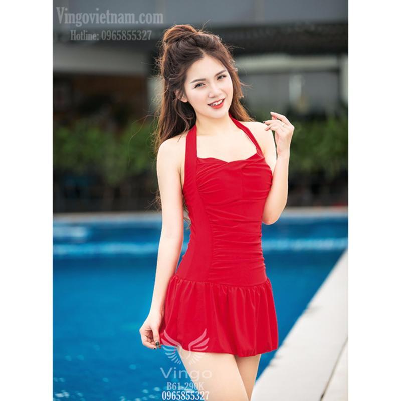 Nơi bán Bikini, Đồ bơi nữ, Bộ đồ bơi 1 mảnh, đồ bơi liền thân đỏ gợi cảm che khuyết điểm cao cấp thương hiệu Vingo