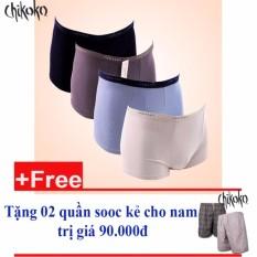 Bộ 04 quần lót nam  boxer Nhật +Tặng 02 quần đùi xuất khẩu cho nam