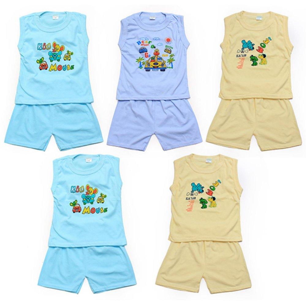 Bộ 5 đồ bộ mùa hè cho bé