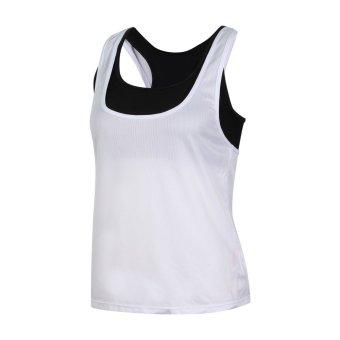 Bộ áo tập gym fitness cao cấp shakano (áo croptop + áo 3 lỗ) (Trắng)