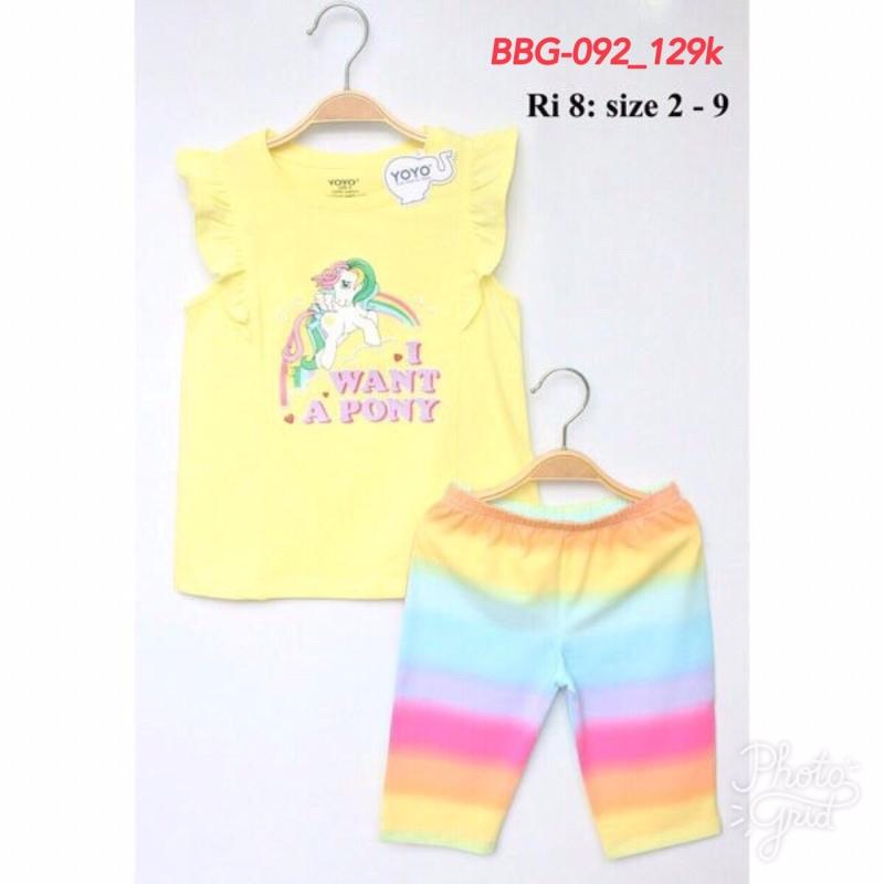 Nơi bán Bộ thun yoyo bé gái-I want a Pony 8-15kg