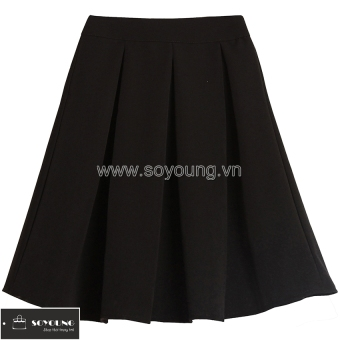 Chân Váy Ngắn Dáng Xòe SoYoung SKIRT 008C B (Đen).