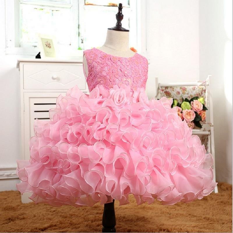 Giá bán Childrens clothing new girls Europe and the United States dress childrens princess skirt Peng Peng skirt performance dress skirt - intl