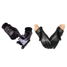 Combo 01 đôi găng tay da nam + 01 đôi găng tay da nữ cảm ứng mẫu hot