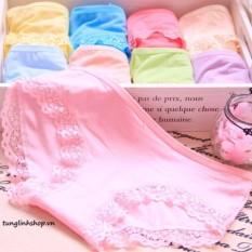 combo 10 quần lót nữ viền ren chất cotton cao cấp MODAL