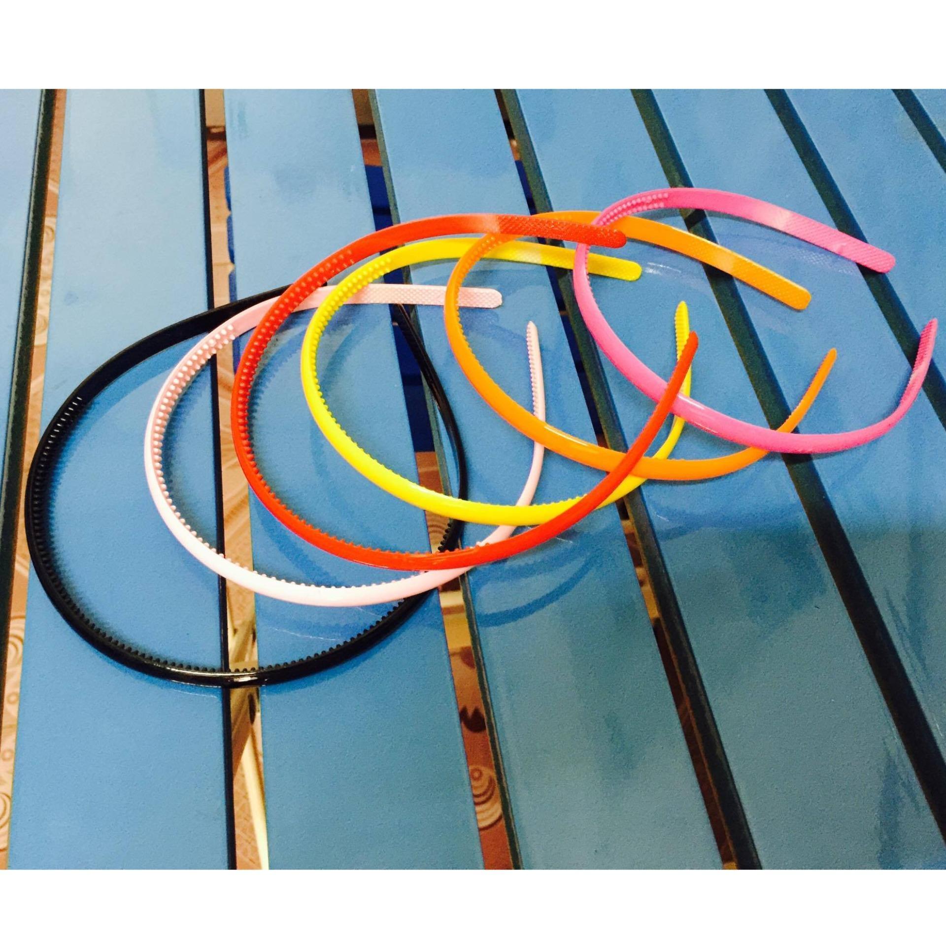 Combo 5 bờm (cài tóc) nhựa bản nhỏ
