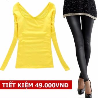 Combo Áo Thun Nữ Dài Tay, 2 Lớp Cao Cấp+ Quần Legging nữ, quần legging da bóng LYLYSHOP T210, loại tốt nhất , mới nhất, đổi trả 1 đổi 1 ( Vàng+ Đen) - 8470190 , OE680FAAA8Q8KFVNAMZ-17050568 , 224_OE680FAAA8Q8KFVNAMZ-17050568 , 280000 , Combo-Ao-Thun-Nu-Dai-Tay-2-Lop-Cao-Cap-Quan-Legging-nu-quan-legging-da-bong-LYLYSHOP-T210-loai-tot-nhat-moi-nhat-doi-tra-1-doi-1-Vang-Den-224_OE680FAAA8Q8KFVNAMZ-170