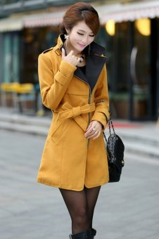 Cyber Women Super Stylish Wool Blend Warm Long Coat Jacket Belt Overcoat(Yellow) - 8804154 , UN725FAAA1I0RPVNAMZ-2435167 , 224_UN725FAAA1I0RPVNAMZ-2435167 , 827200 , Cyber-Women-Super-Stylish-Wool-Blend-Warm-Long-Coat-Jacket-Belt-OvercoatYellow-224_UN725FAAA1I0RPVNAMZ-2435167 , lazada.vn , Cyber Women Super Stylish Wool Blend Warm