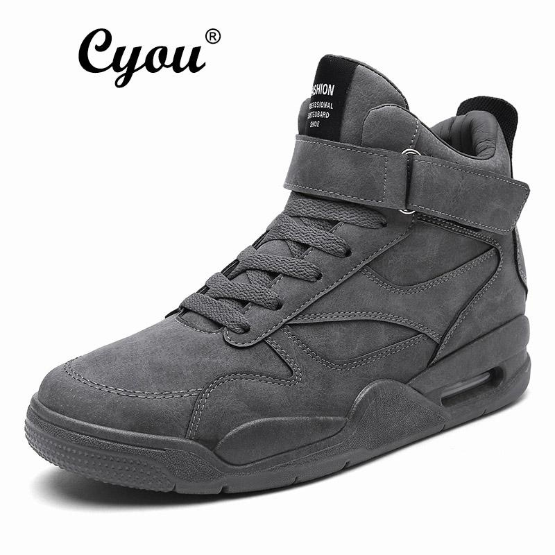 Cyou 2017 New Running Shoes Men Sports Sneakers Genuine Outdoor Sports Flat Run Walking Jogging Trendy Shoes Kasut Lelaki (Grey) - intl