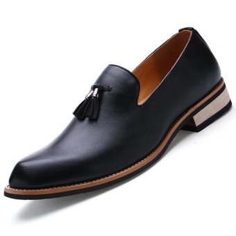 CYOU Men's Formal Shoes Business Casual Shoes Slip-On (Black) -intl