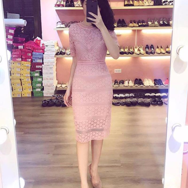 Nơi bán Đầm body ren Zen Dress (Màu Đỏ)