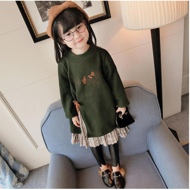 Giá bán Đâm màu rêu phong cách Hàn bé gái ( 14-30 kg)