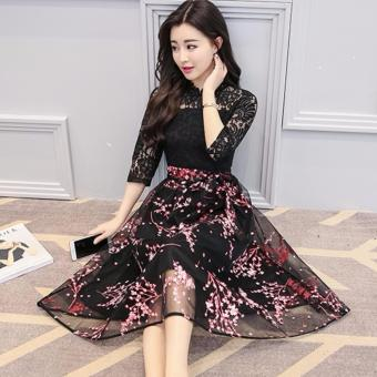 Đầm Ren Hoa Thạch Anh (Hoa Đỏ) - 2