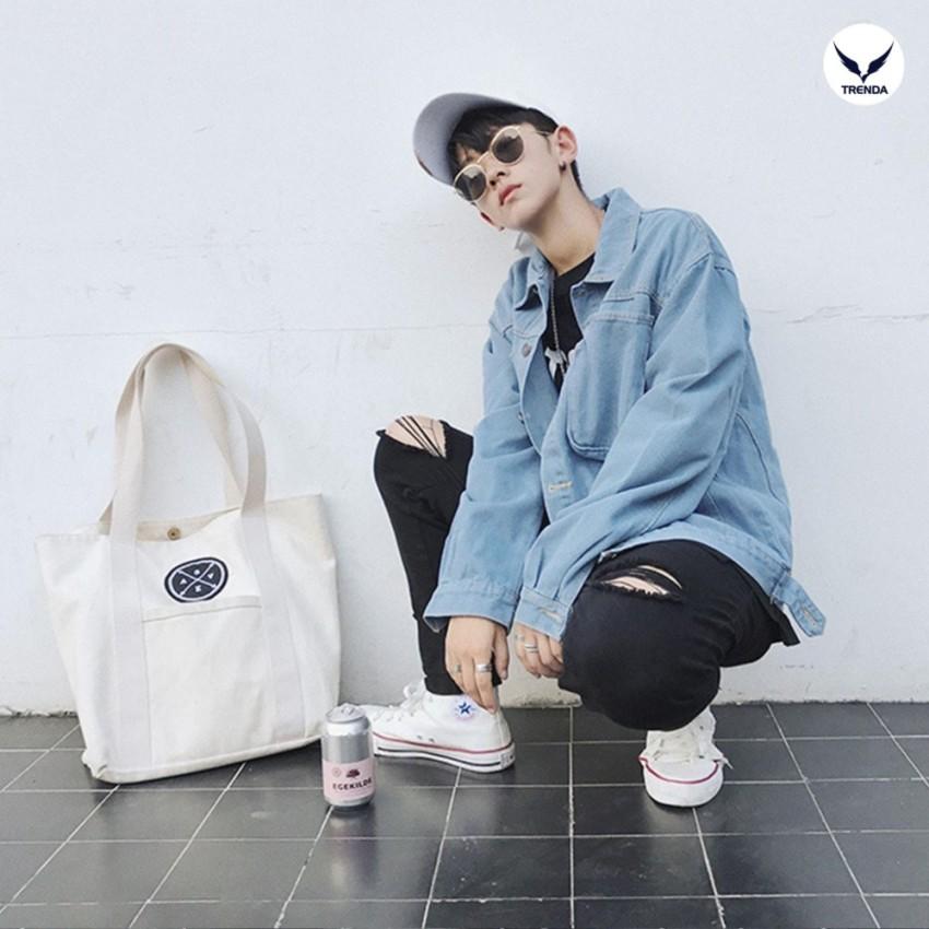 Denim Jacket / Áo Khoác Bò Thời Trang Nam Cao Cấp Trenda - AKB4 Xanh Bò