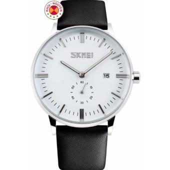 Đồng hồ nam dây da Skmei 9083 (Trắng)