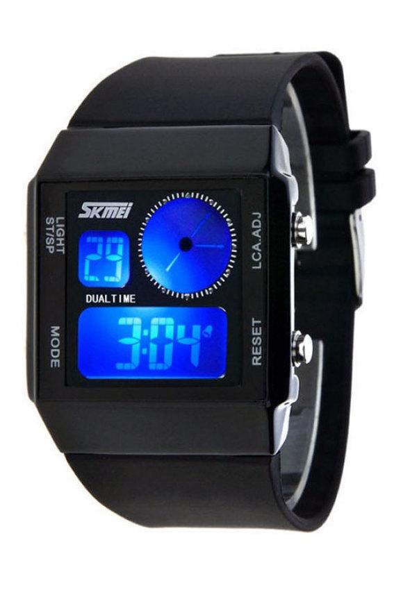 Đồng hồ nam dây nhựa SKMEI 0841 (Đen)