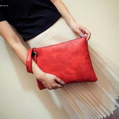 So Sánh Giá Fashion Women Solid Clutch Bag Synthetic Leather Bag Clutch Handbag(Red) – intl  HYX store