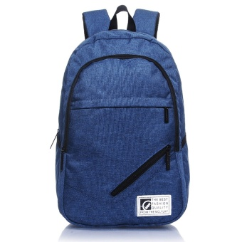 Fashion Younger Backpack Boy and Girl School Bag (Navy Blue) - intl