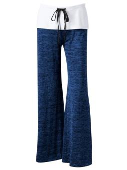 Foldover Heather Wide Leg Pants - intl