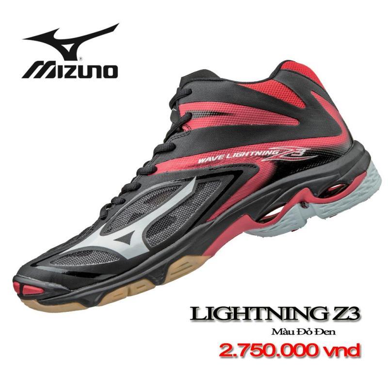Giày bóng chuyền WAVE LIGHTNING Z3 MID - MÀU ĐEN ĐỎ