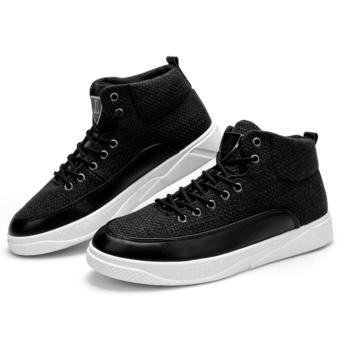 Giày Cao Cổ sneakers Cao Cấp - Pettino B002 (đen) - 4
