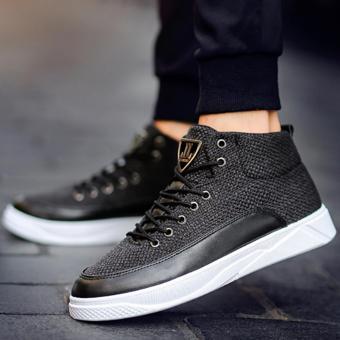 Giày Cao Cổ sneakers Cao Cấp - Pettino B002 (đen) - 5