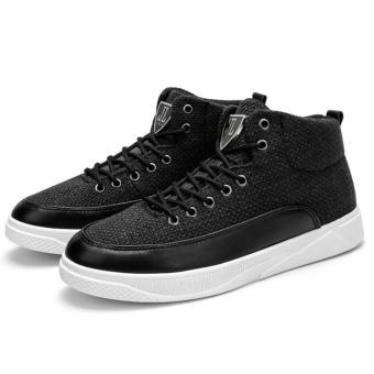 Giày Cao Cổ sneakers Cao Cấp - Pettino B002 (đen) - 3