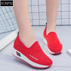 Giày lười nữ độn đế LENCIA - HAPU - DLA01 (đỏ)
