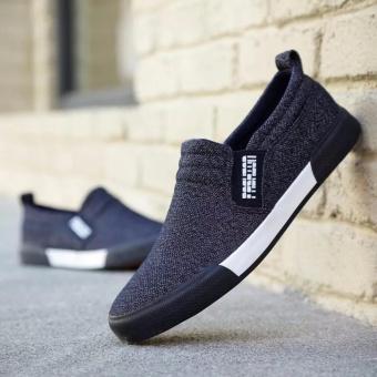 Giày lười vải nam thời trang và lịch lãm Fashion - GiayKS - LFS001 (đen)