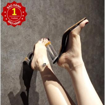 Giày Sandal nữ cao gót trong suốt 7cm