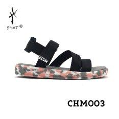 Bảng Báo Giá Giày Sandal SHAT F5 camo hồng dù đen full  SHAT