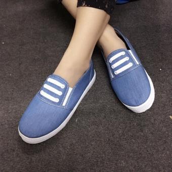 Giày Slip On 3 dây nữ CS1406 (Xanh nhạt) - 2