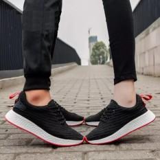 Giày sneaker cặp đôi thời trang nam nữ NewNMD1 - HAPU (đen vạch đỏ)
