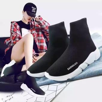 Giày sneaker nữ cao cổ chun hot nhất - HAPU - TBLcao1 (đen) - 3