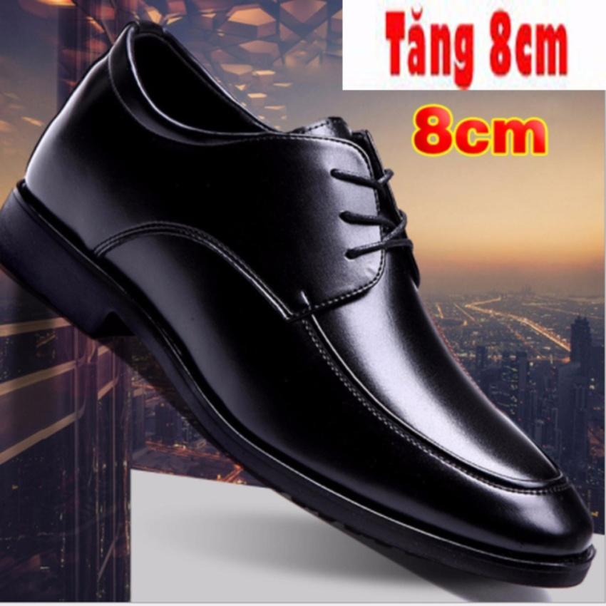 Hình ảnh Giày Tăng Chiều Cao Nam 8CM - Da Bò Thật - Cao Cấp Nhập Khẩu