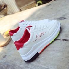 Giày thể thao nữ tăng chiều cao cổ ngắn nhập khẩu ZAVANS (Viền Đỏ )