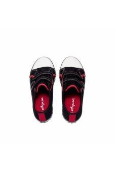 Giày vải học sinh quai ngang dán cho nam Aqua Sportswear (Đen)