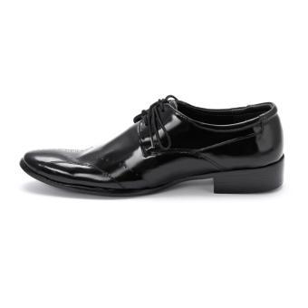 HL7102 - Giày tây nam Huy Hoàng da bò màu đen - 5